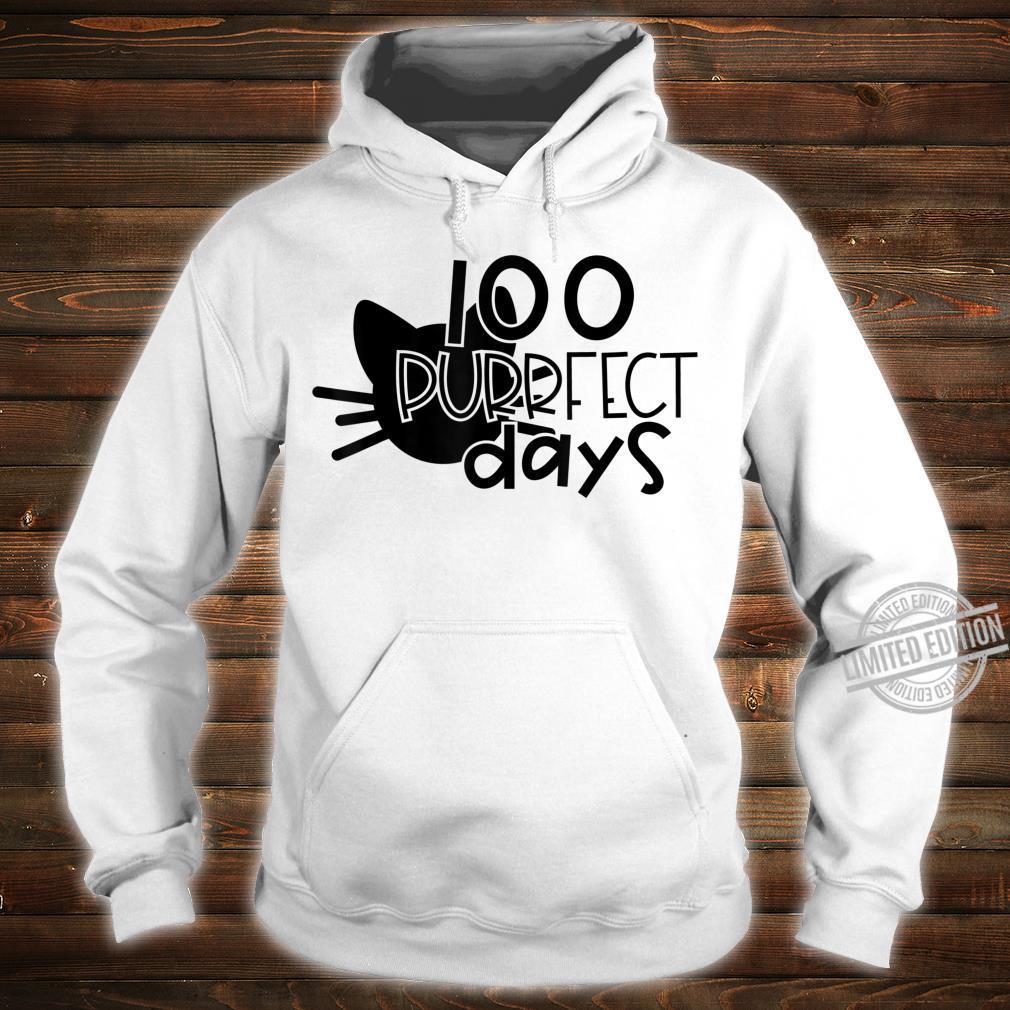 100 Purrfect Days Cat 100 Days of School and Teachers Shirt hoodie