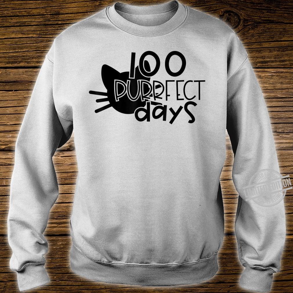 100 Purrfect Days Cat 100 Days of School and Teachers Shirt sweater