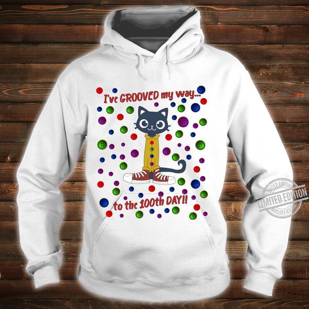 100th Day Of School Shirt Cute Dance Cat Boy Girl Shirt hoodie