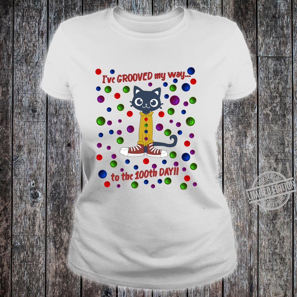 100th Day Of School Shirt Cute Dance Cat Boy Girl Shirt ladies tee