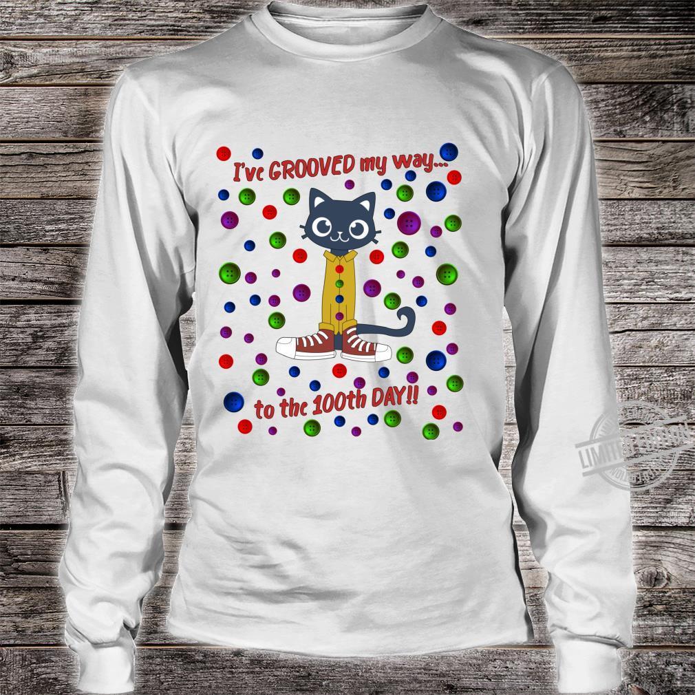 100th Day Of School Shirt Cute Dance Cat Boy Girl Shirt long sleeved