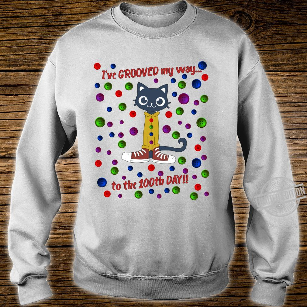 100th Day Of School Shirt Cute Dance Cat Boy Girl Shirt sweater
