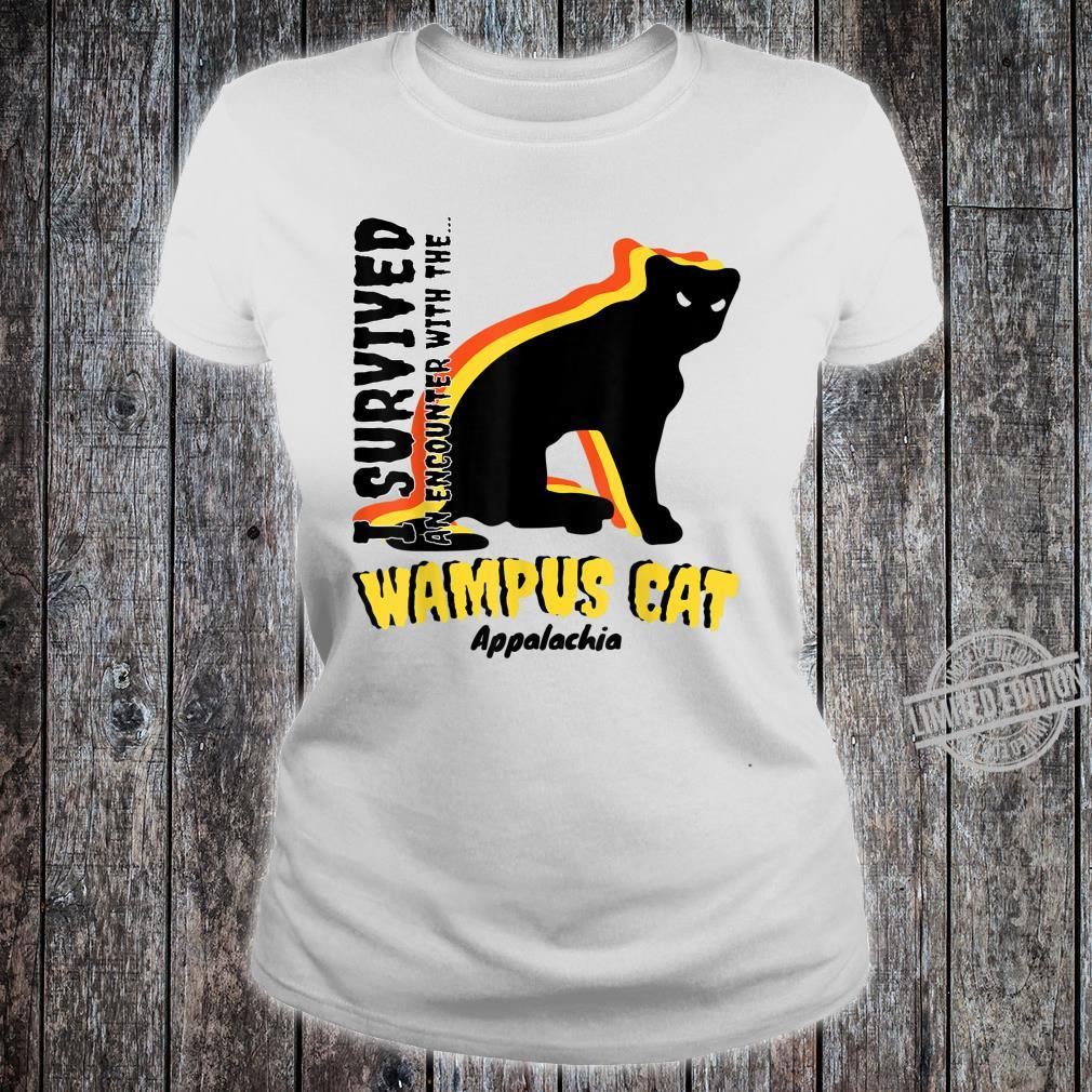 American Cryptids WAMPUS CAT I Survived an encounter... Shirt ladies tee