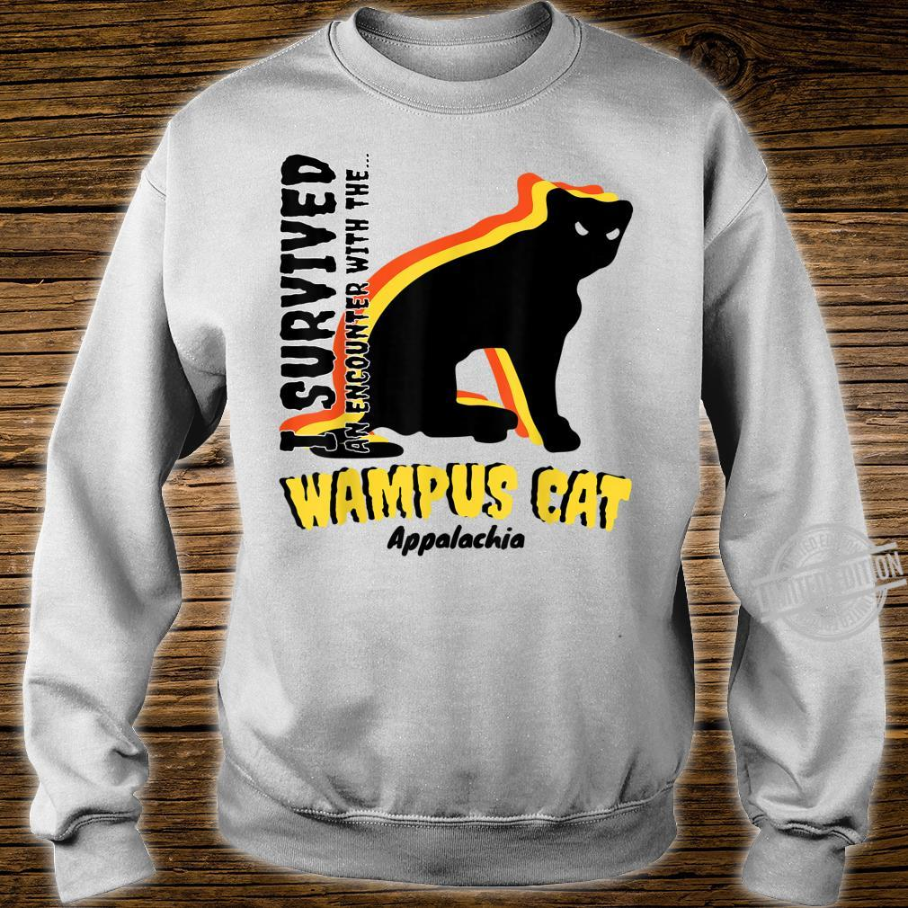 American Cryptids WAMPUS CAT I Survived an encounter... Shirt sweater