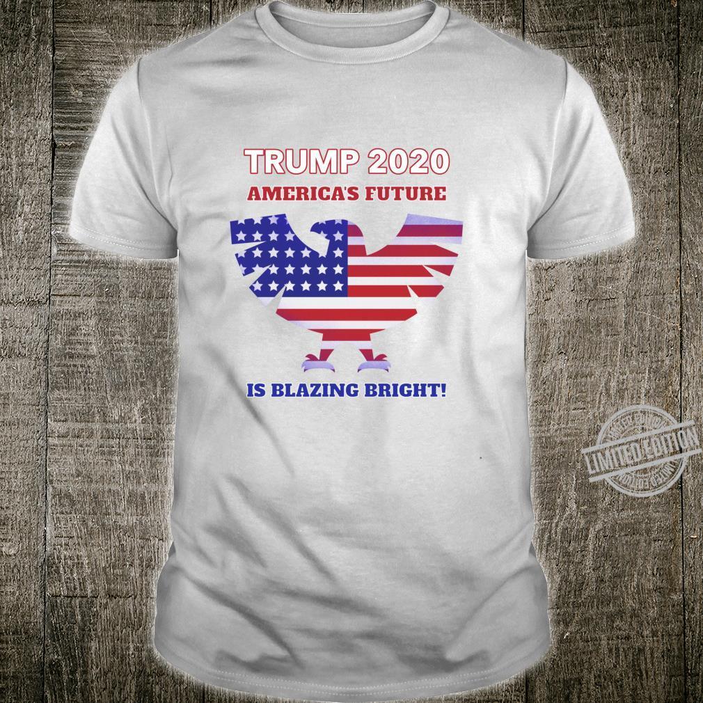 America's Future Is Blazing Bright Trump 2020 American Eagle Shirt